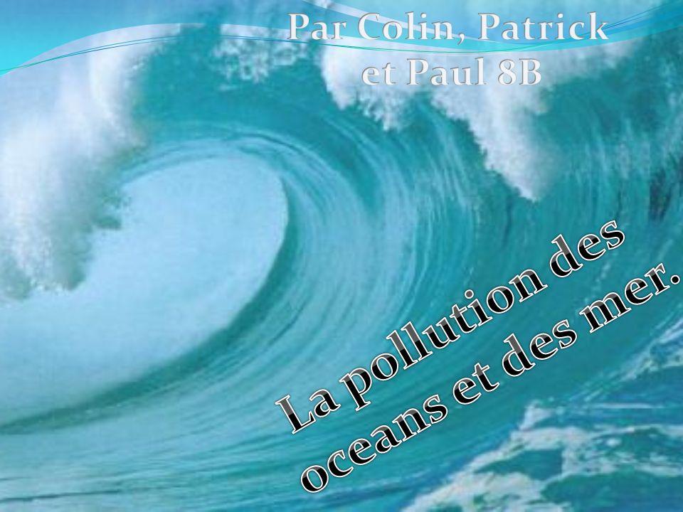 La pollution des oceans et des mer.