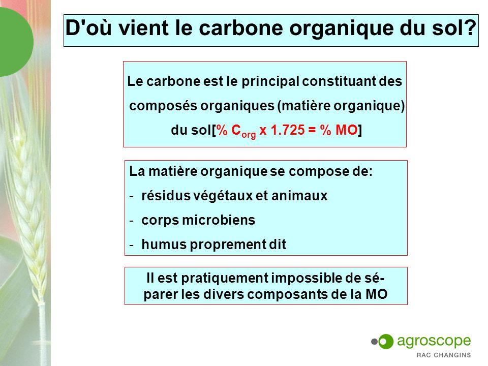 D où vient le carbone organique du sol