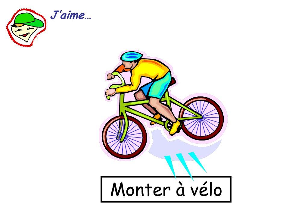 J'aime… Monter à vélo