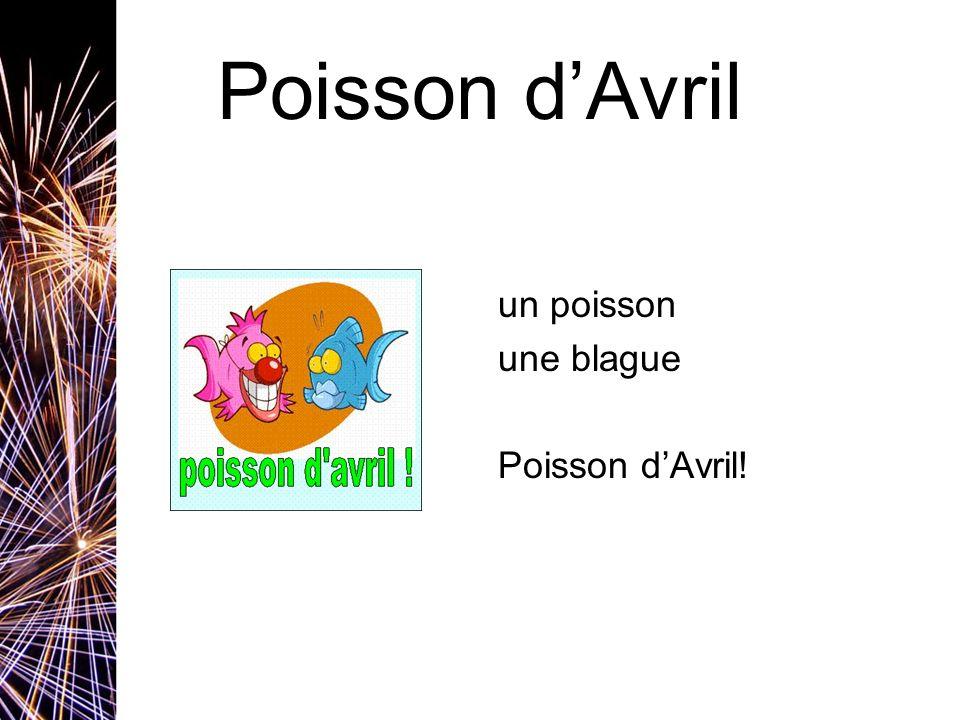 Poisson d'Avril un poisson une blague Poisson d'Avril!
