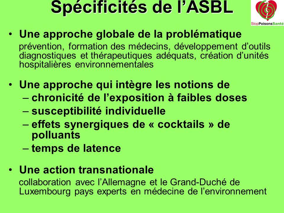 Spécificités de l'ASBL