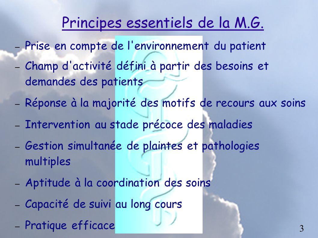 Principes essentiels de la M.G.