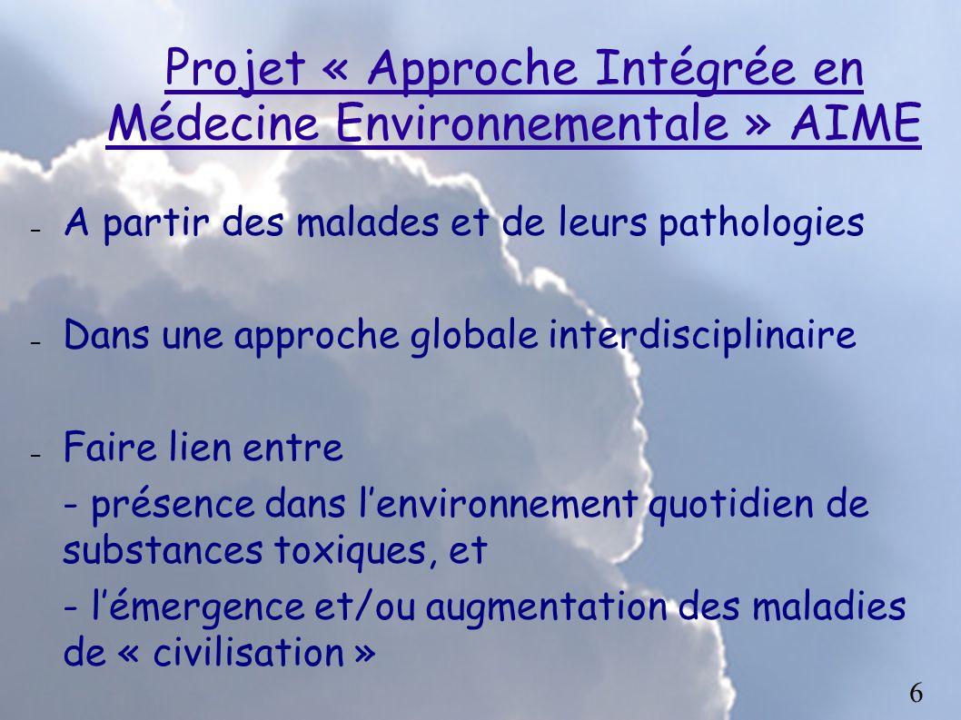 Projet « Approche Intégrée en Médecine Environnementale » AIME