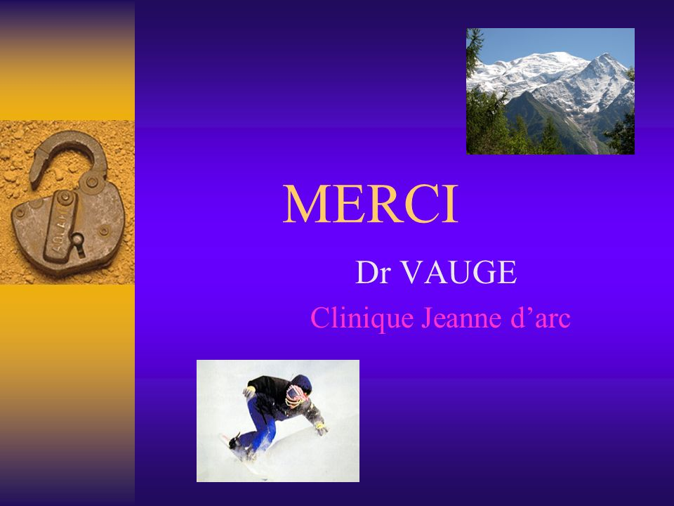 Dr VAUGE Clinique Jeanne d'arc