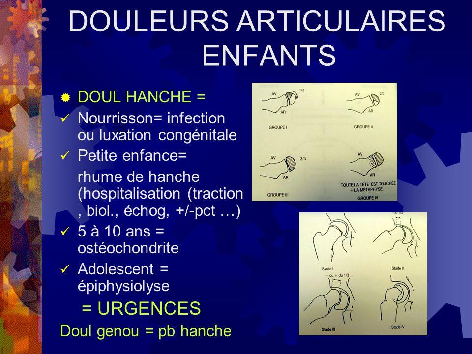 DOULEURS ARTICULAIRES ENFANTS