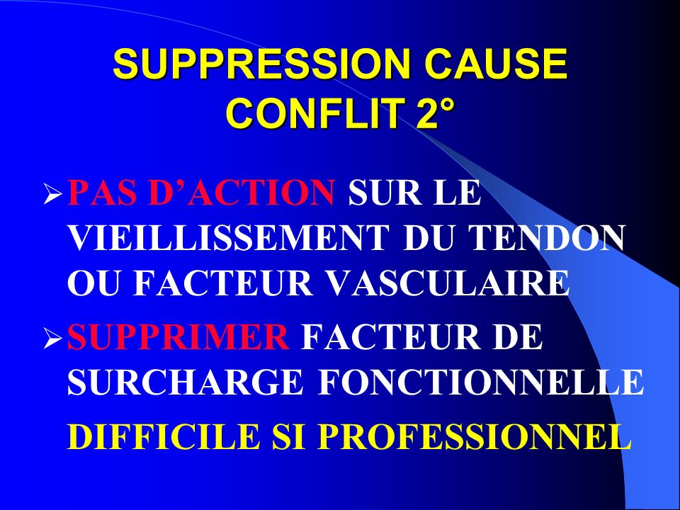 SUPPRESSION CAUSE CONFLIT 2°