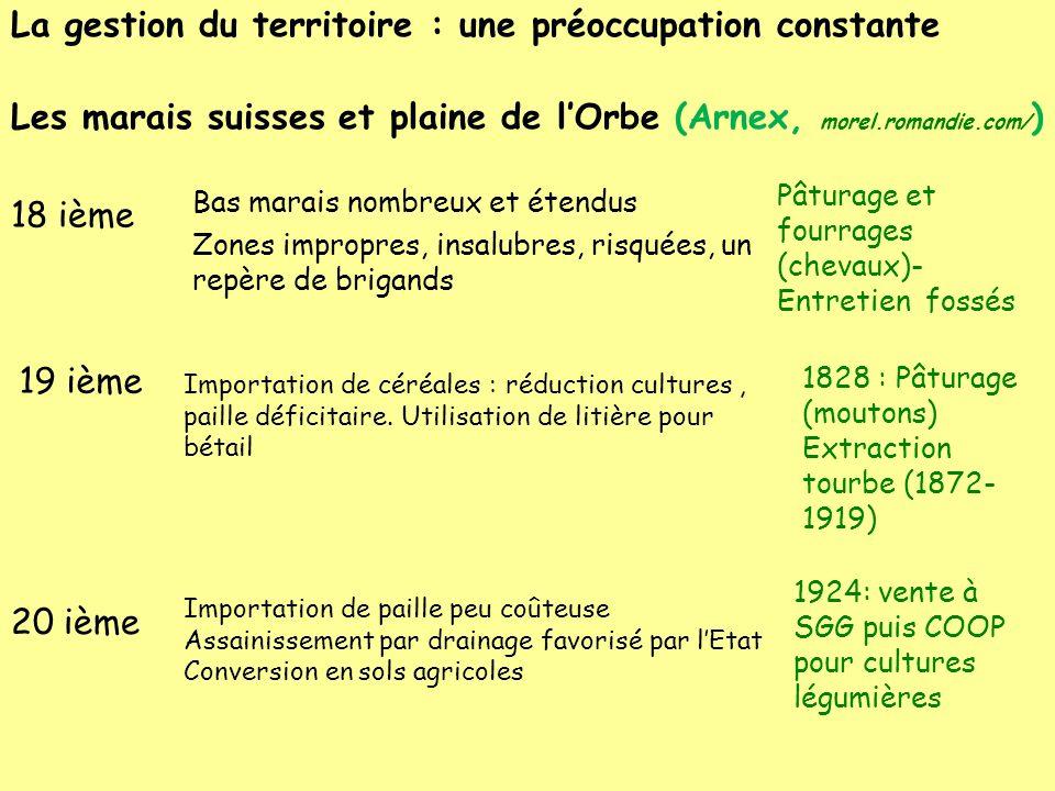 La gestion du territoire : une préoccupation constante Les marais suisses et plaine de l'Orbe (Arnex, morel.romandie.com/)