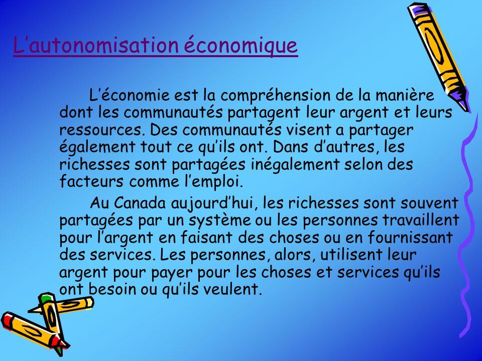 L'autonomisation économique