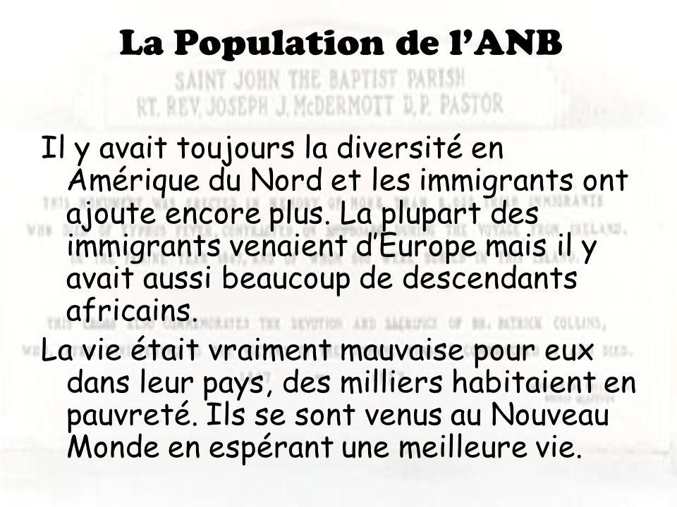 La Population de l'ANB
