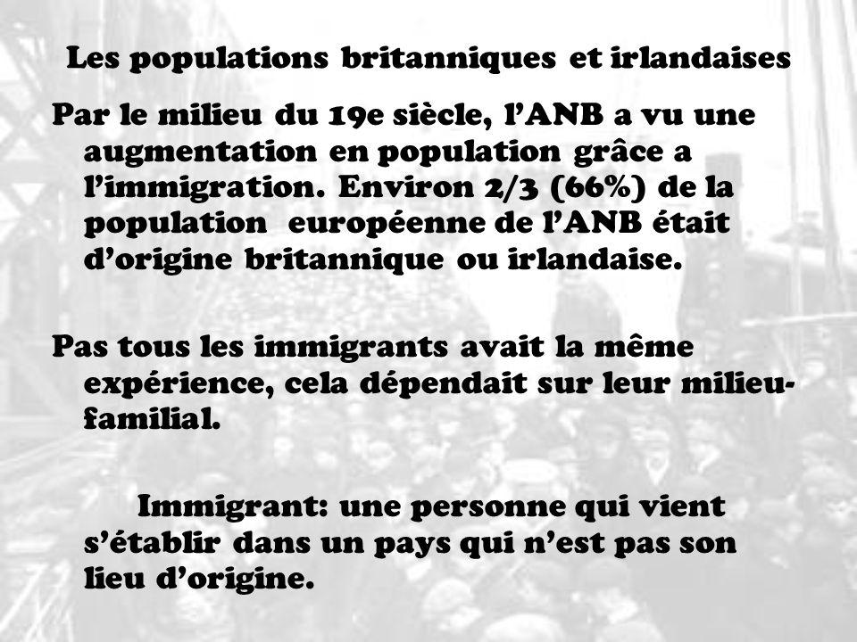 Les populations britanniques et irlandaises