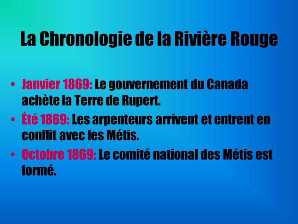 La Chronologie de la Rivière Rouge