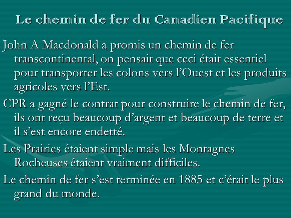 Le chemin de fer du Canadien Pacifique