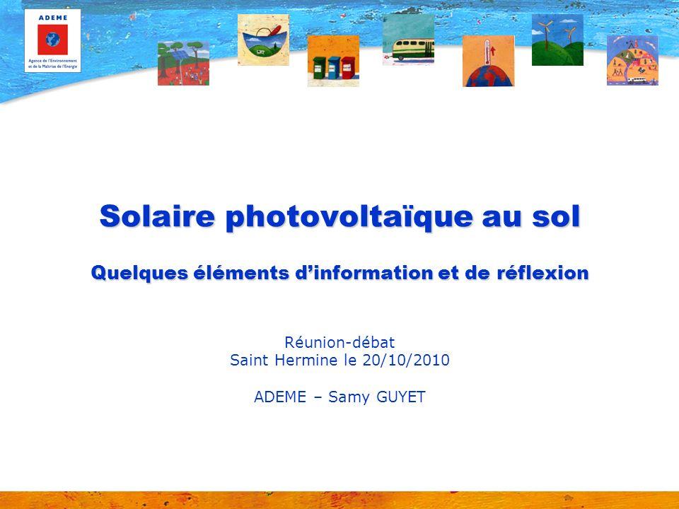 Réunion-débat Saint Hermine le 20/10/2010 ADEME – Samy GUYET