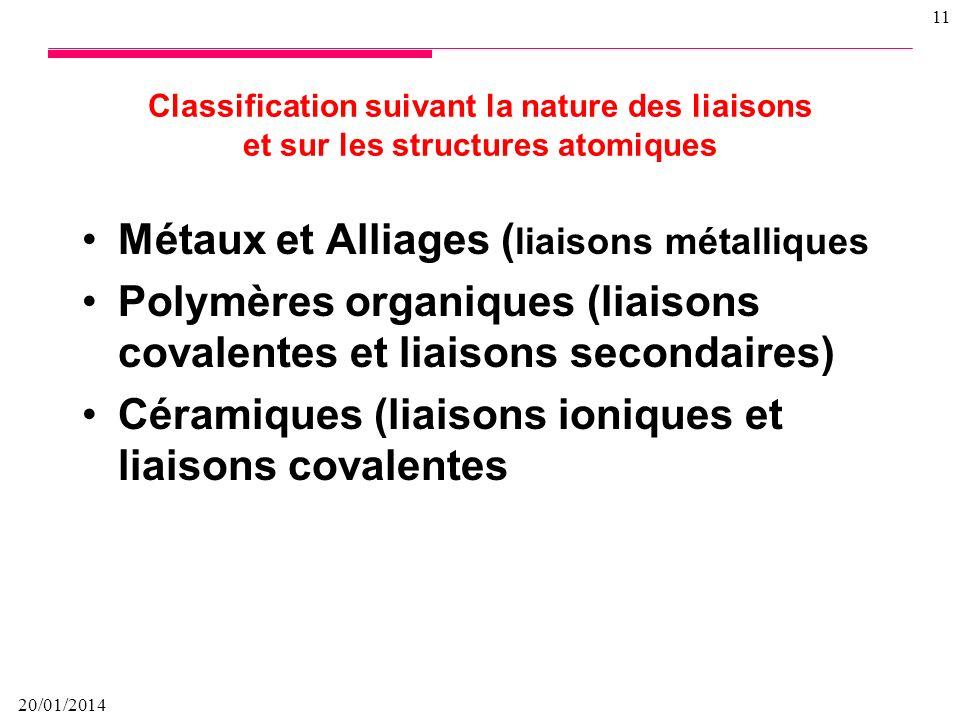 Métaux et Alliages (liaisons métalliques