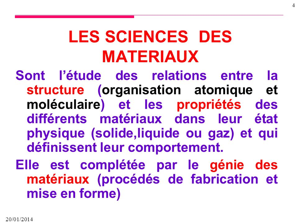 Ppt t - Les differents materiaux ...