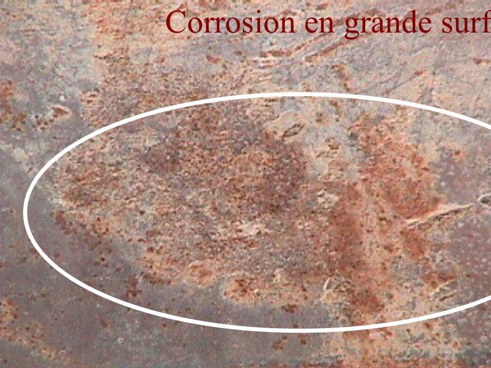 Corrosion en grande surface