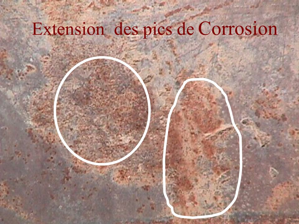 Extension des pics de Corrosion