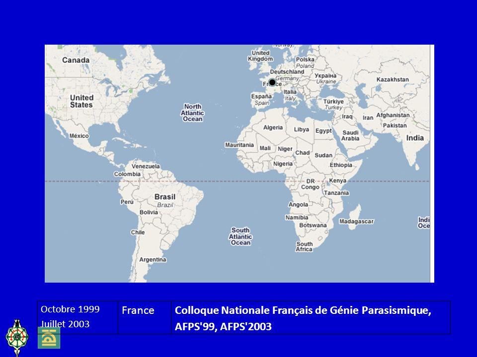 Colloque Nationale Français de Génie Parasismique, AFPS 99, AFPS 2003