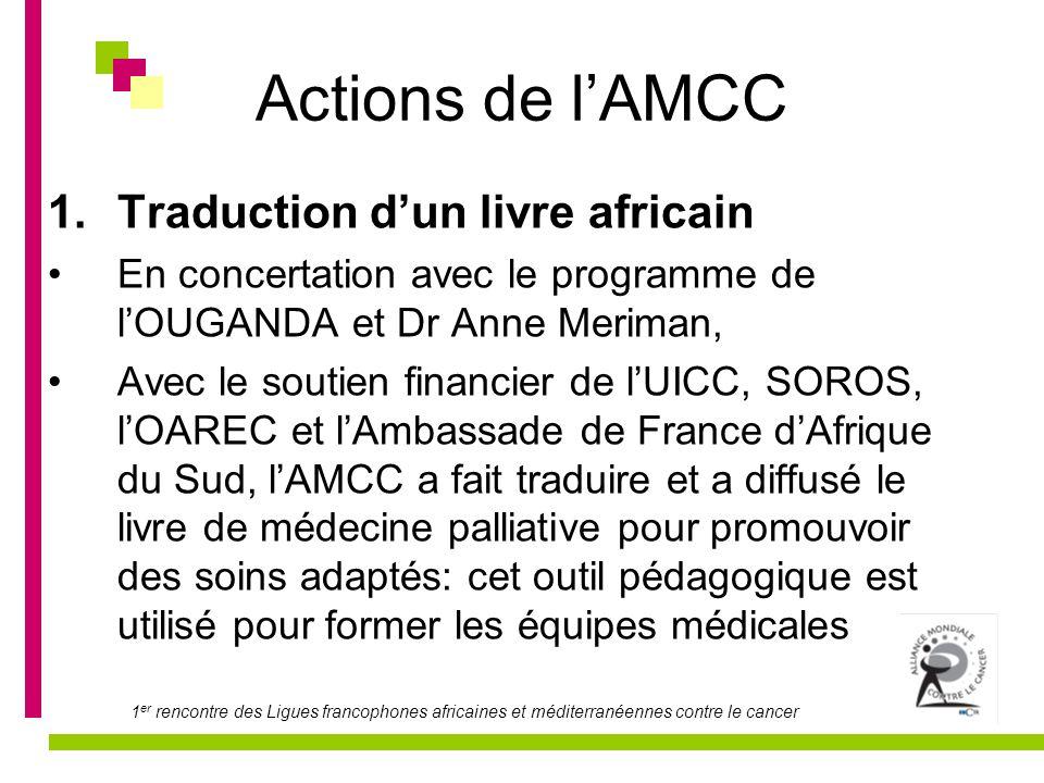 Actions de l'AMCC Traduction d'un livre africain