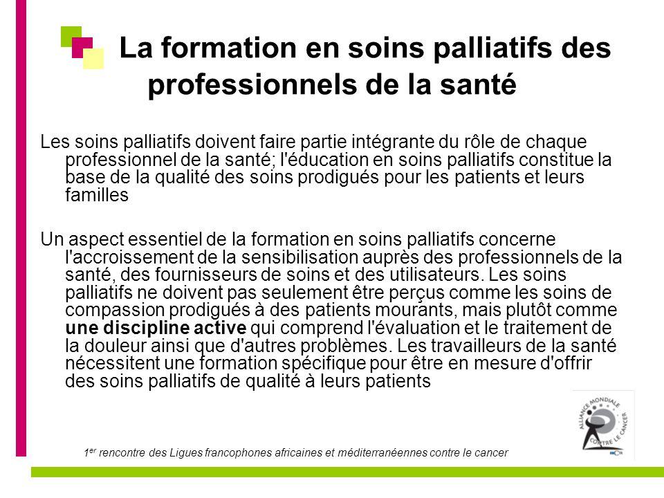 La formation en soins palliatifs des professionnels de la santé