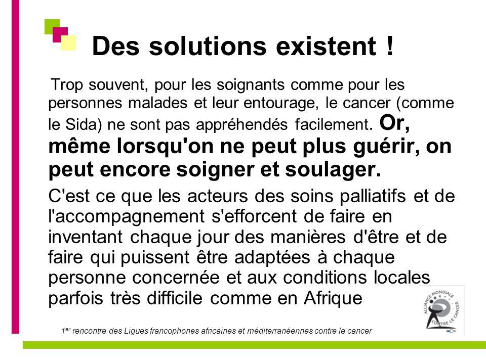Des solutions existent !