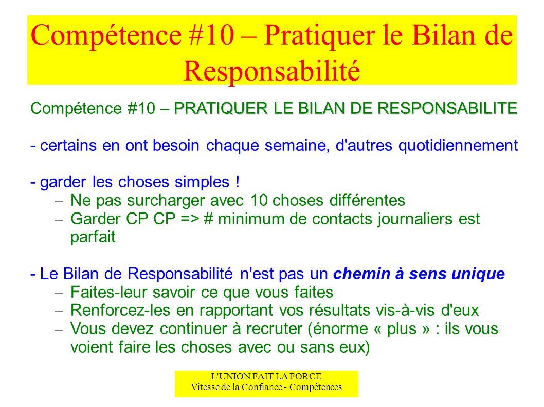 Compétence #10 – Pratiquer le Bilan de Responsabilité