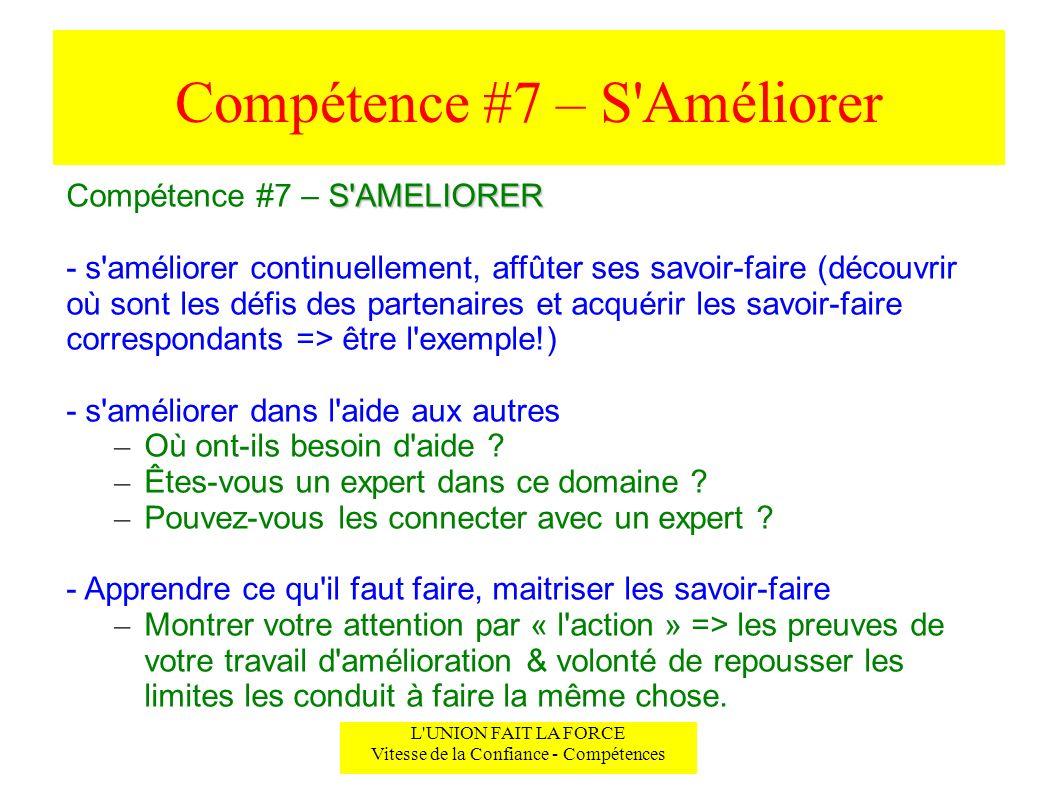 Compétence #7 – S Améliorer