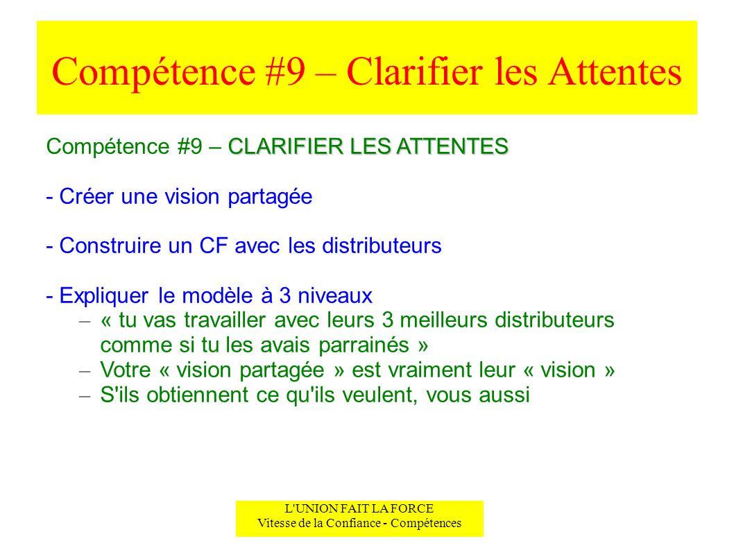 Compétence #9 – Clarifier les Attentes