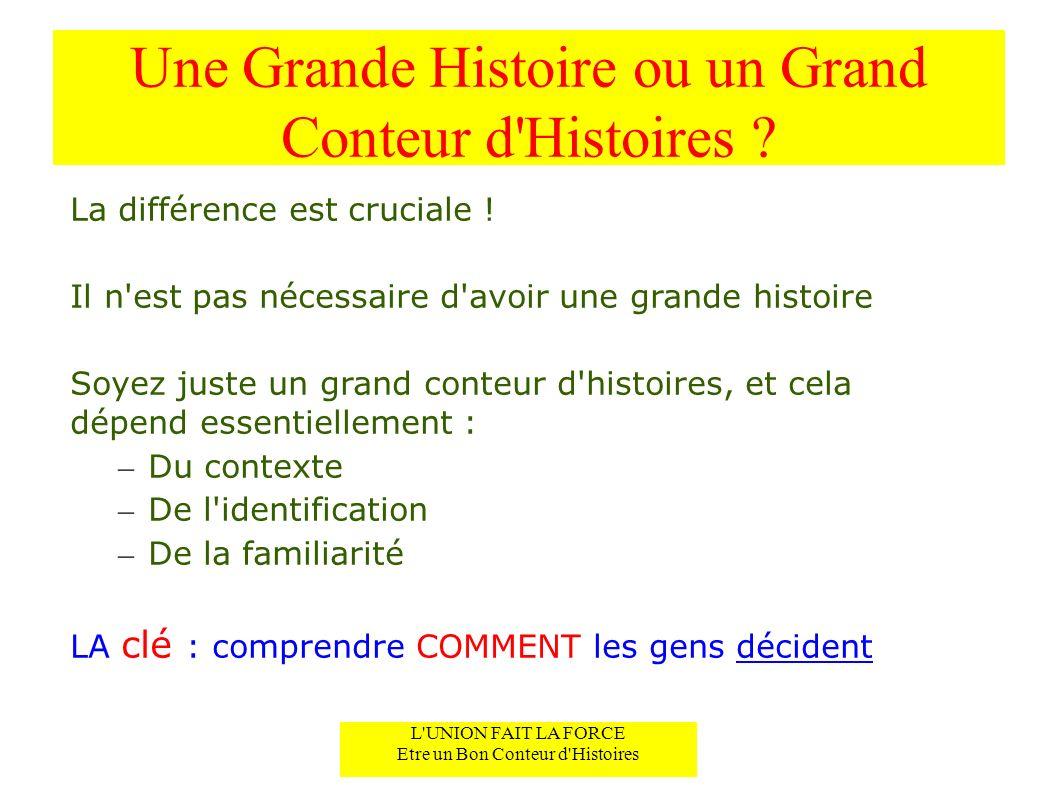 Une Grande Histoire ou un Grand Conteur d Histoires