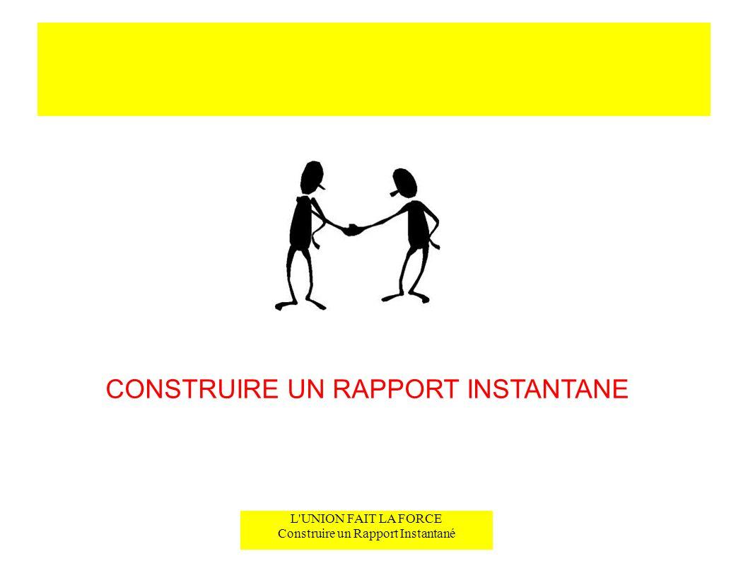 CONSTRUIRE UN RAPPORT INSTANTANE