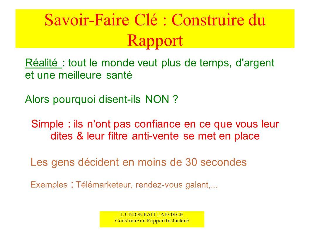 Savoir-Faire Clé : Construire du Rapport