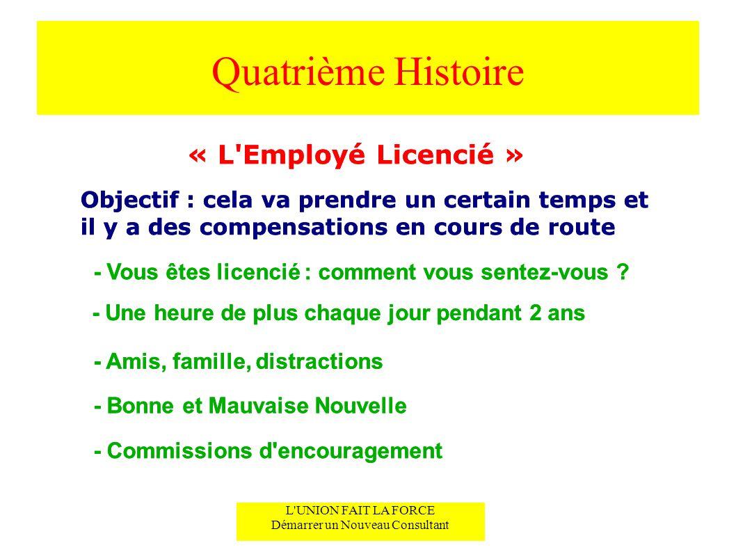 Quatrième Histoire « L Employé Licencié » « L Employé Licencié »