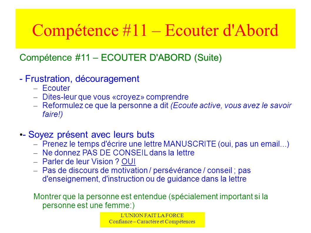 Compétence #11 – Ecouter d Abord