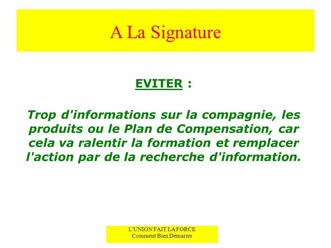 A La SignatureEVITER :