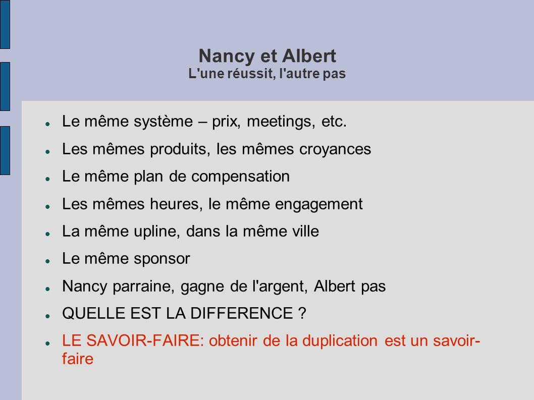 Nancy et Albert L une réussit, l autre pas