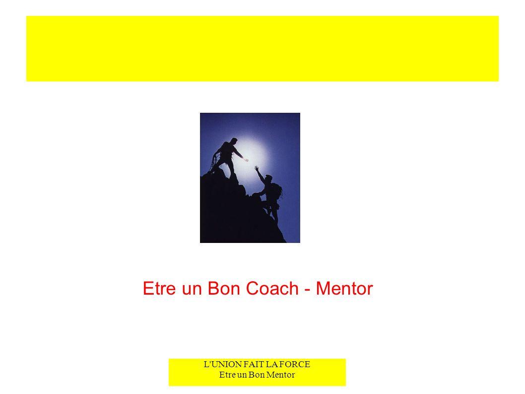 Etre un Bon Coach - Mentor
