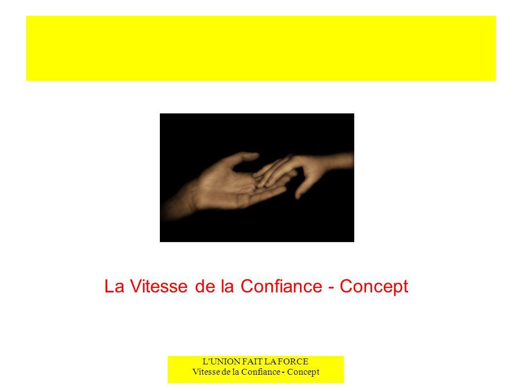 La Vitesse de la Confiance - Concept