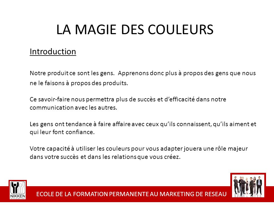 ECOLE DE LA FORMATION PERMANENTE AU MARKETING DE RESEAU