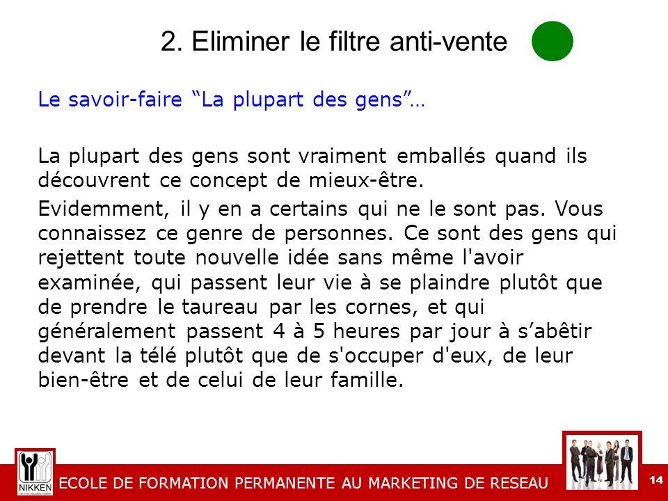 2. Eliminer le filtre anti-vente