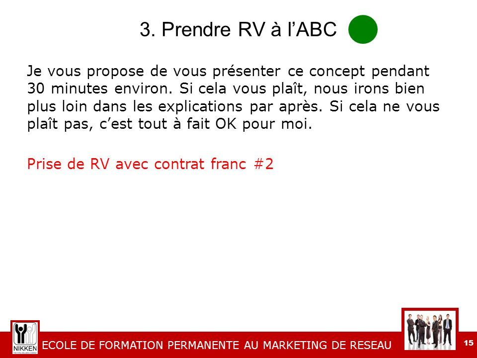 3. Prendre RV à l'ABC