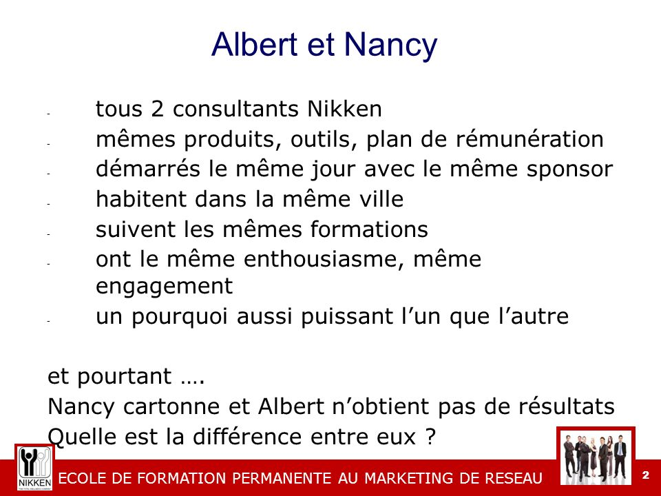 Albert et Nancy tous 2 consultants Nikken
