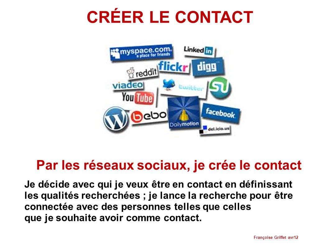Par les réseaux sociaux, je crée le contact