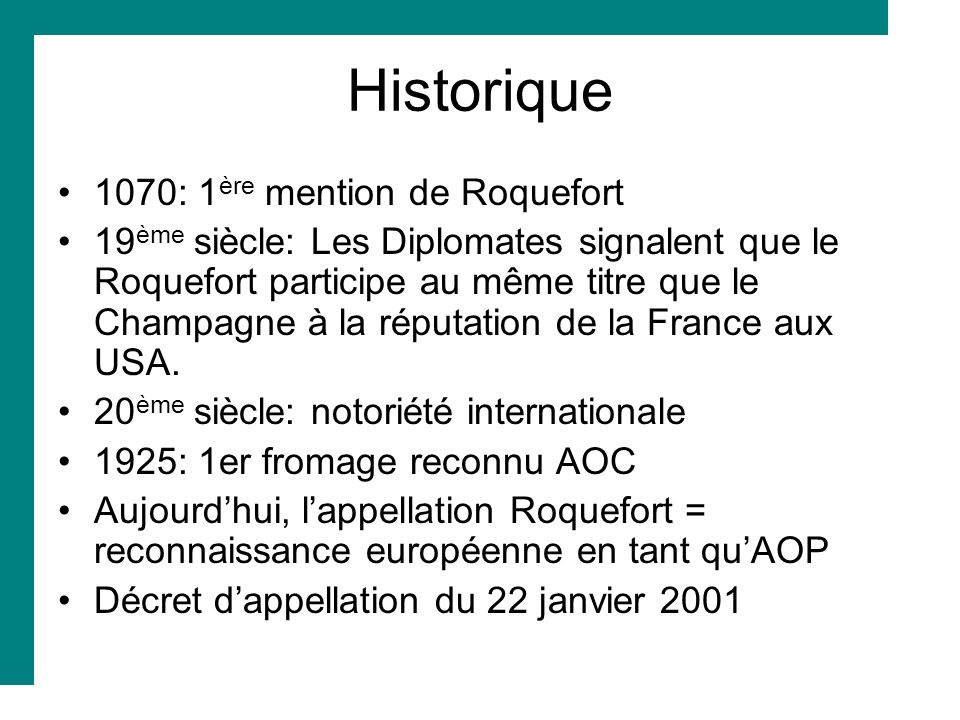 Historique 1070: 1ère mention de Roquefort
