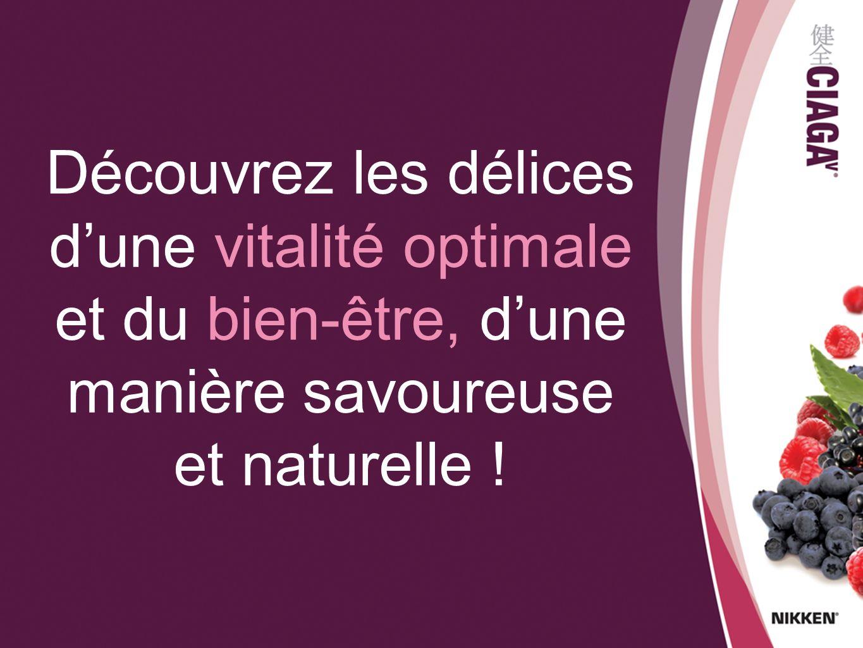 Découvrez les délices d'une vitalité optimale et du bien-être, d'une manière savoureuse et naturelle !