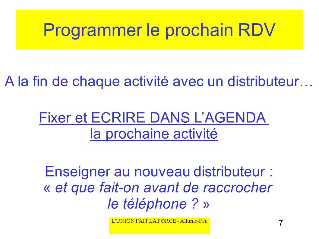 Programmer le prochain RDV