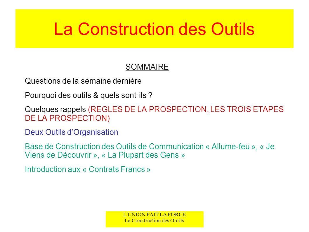 La Construction des Outils