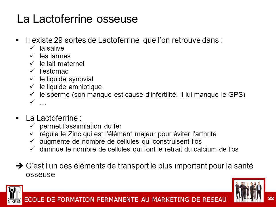 La Lactoferrine osseuse