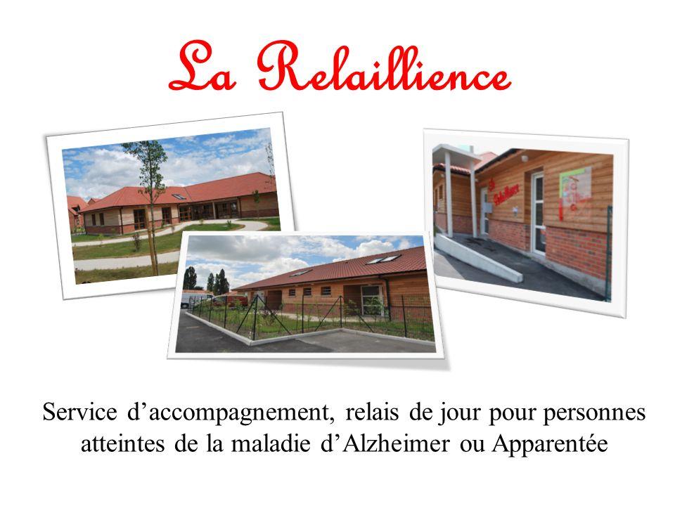 La Relaillience Service d'accompagnement, relais de jour pour personnes atteintes de la maladie d'Alzheimer ou Apparentée.