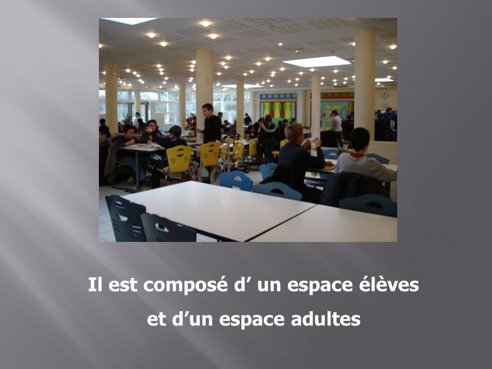 Il est composé d' un espace élèves