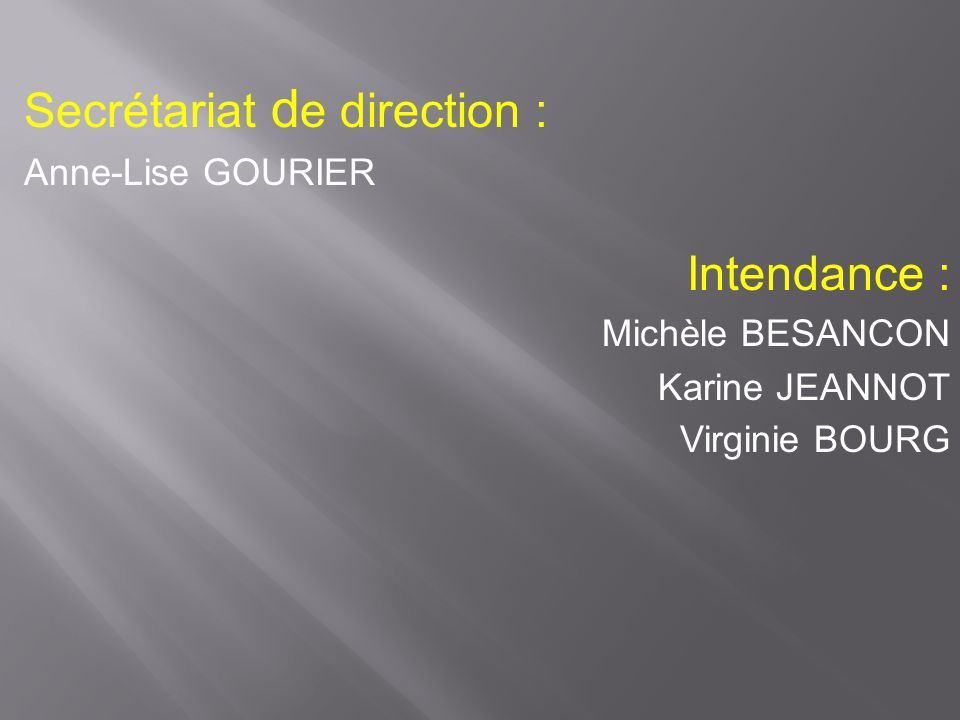Secrétariat de direction :